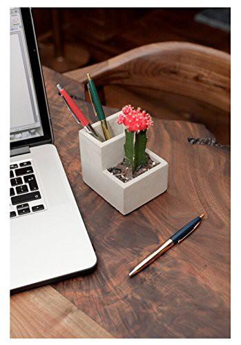 Kikkerland-Concrete-Desktop-Planter-SMALL