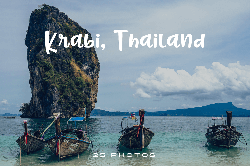 Krabi, Thailand is a great destination for nature and beach lovers. Catch its inspiring wonders in this premium photo pack curated just for you.