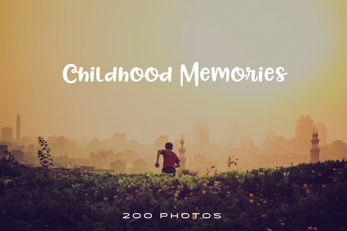 childhood memories photo pack