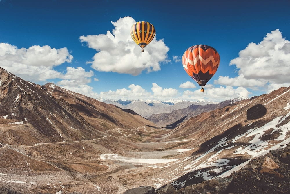 Hot Air Baloons over Leh
