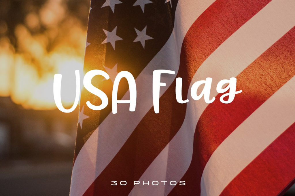 Celebrate freedom with these beautiful red, white, and blue USA flags from this photo pack.