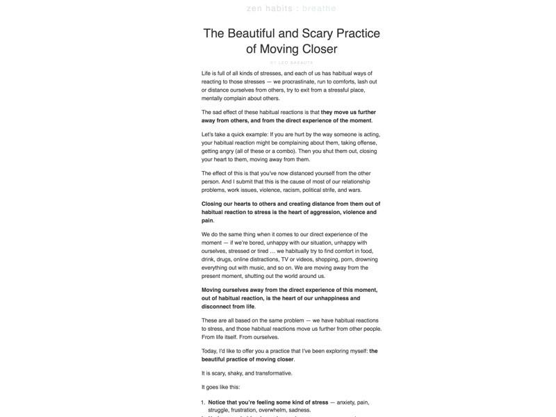 zen habits blog