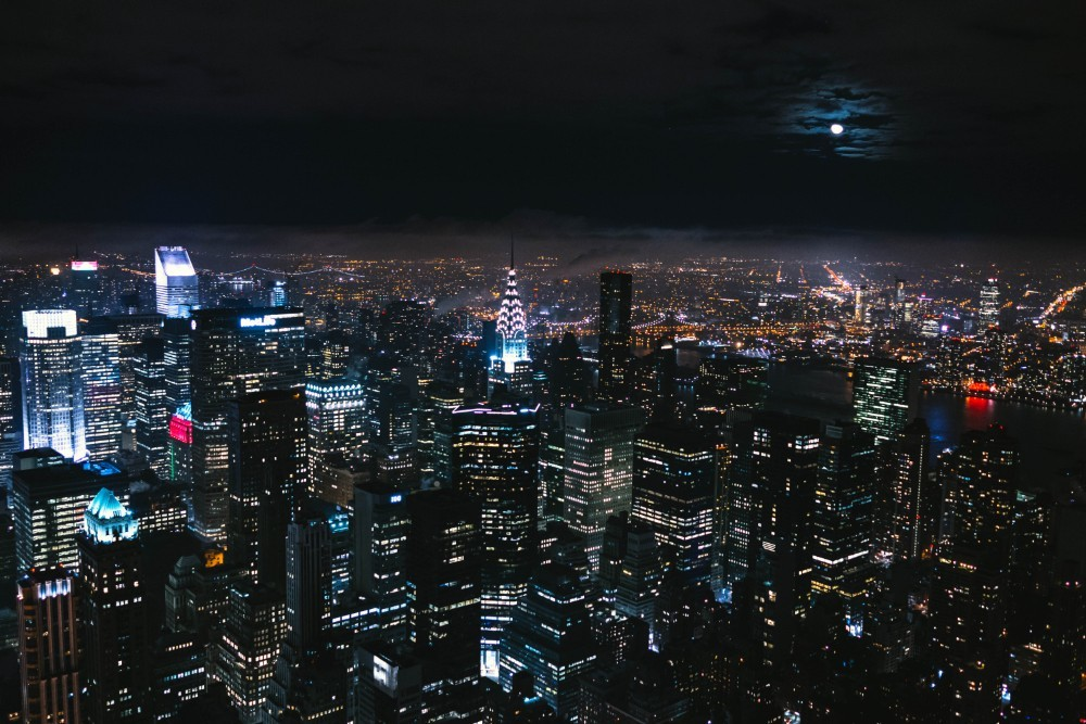 Amazing Aerial View of the New York City Skyline