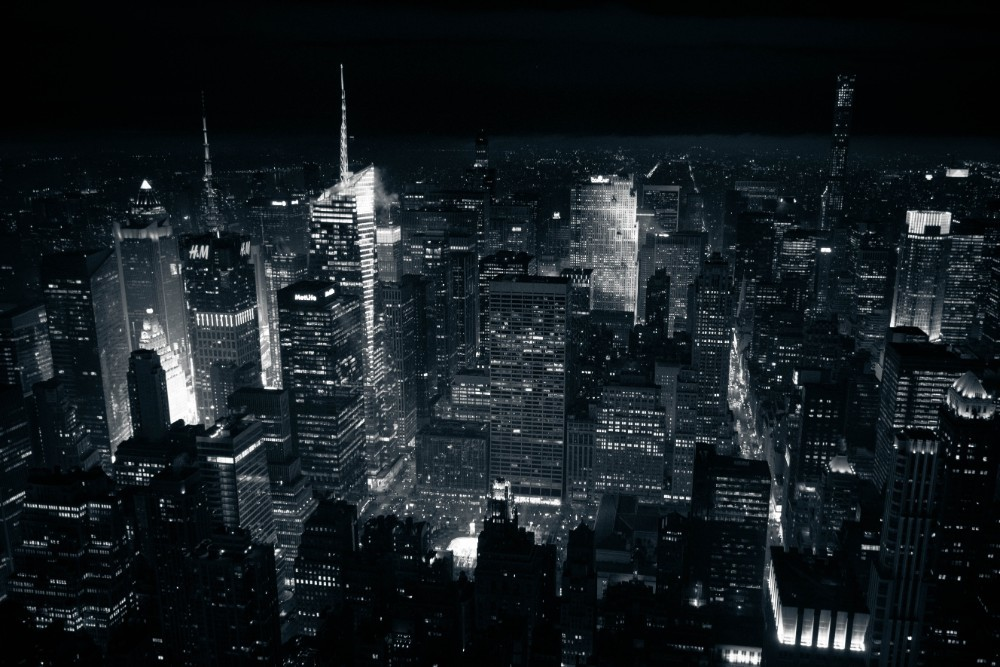 Black and White Photography of the New York City Skyline