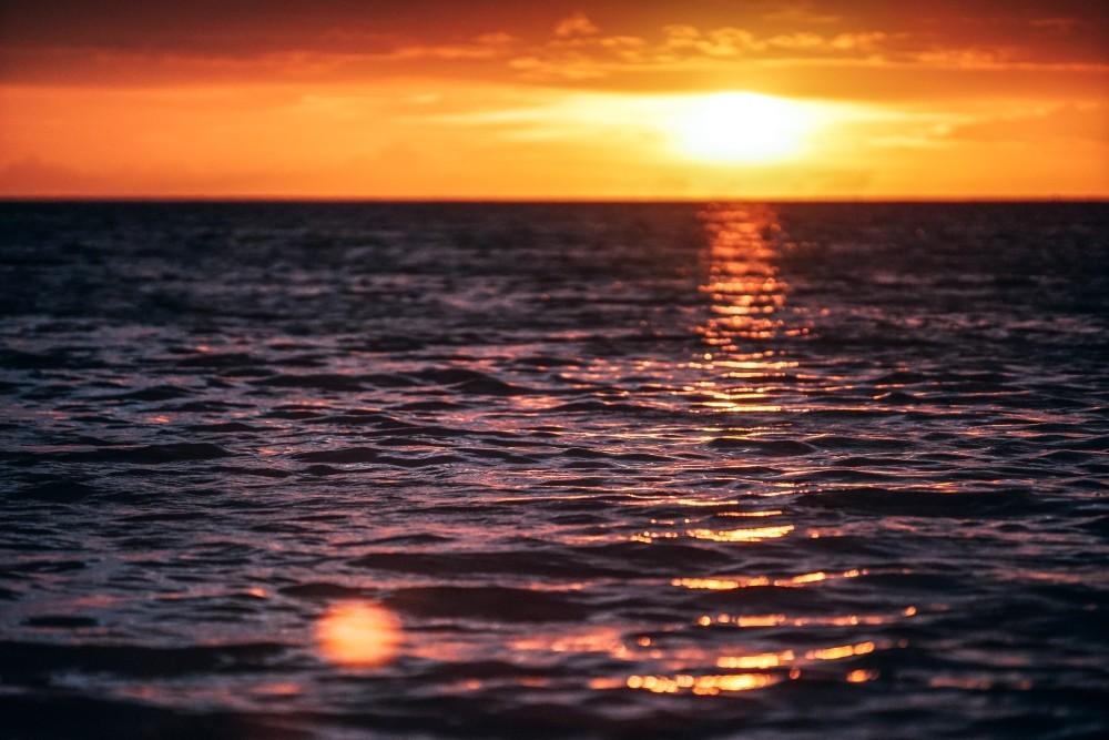 Deep Orange Sunset in Thailand