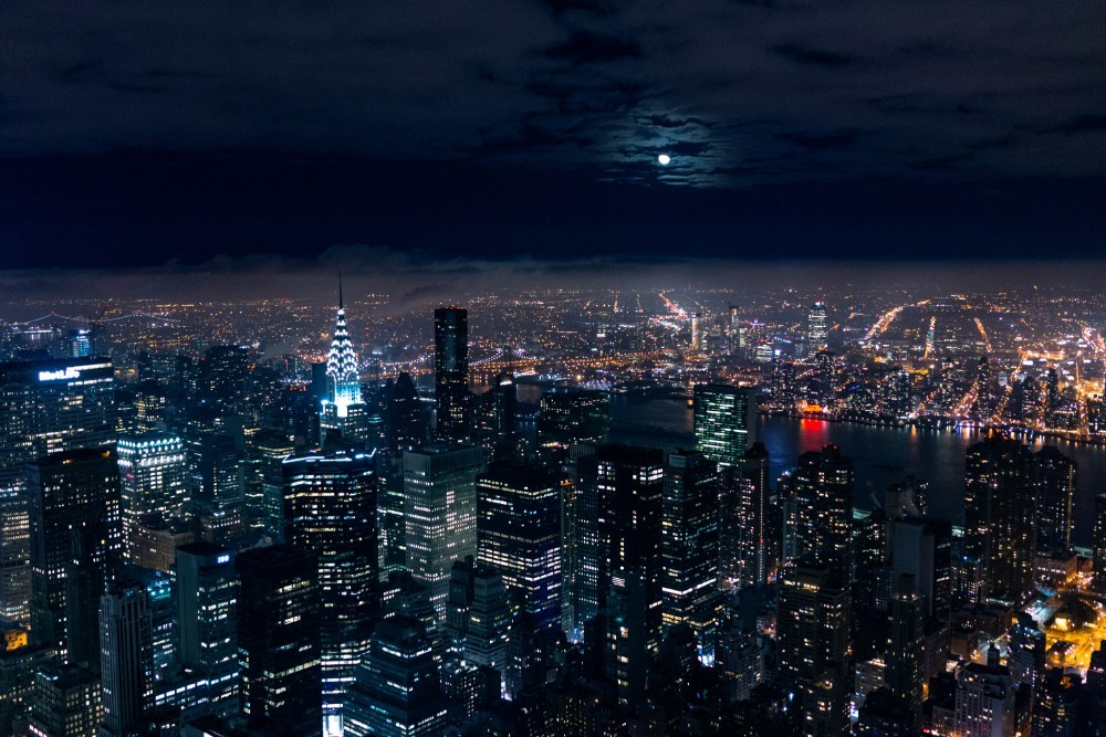 Full Moon in the Sky above New York City