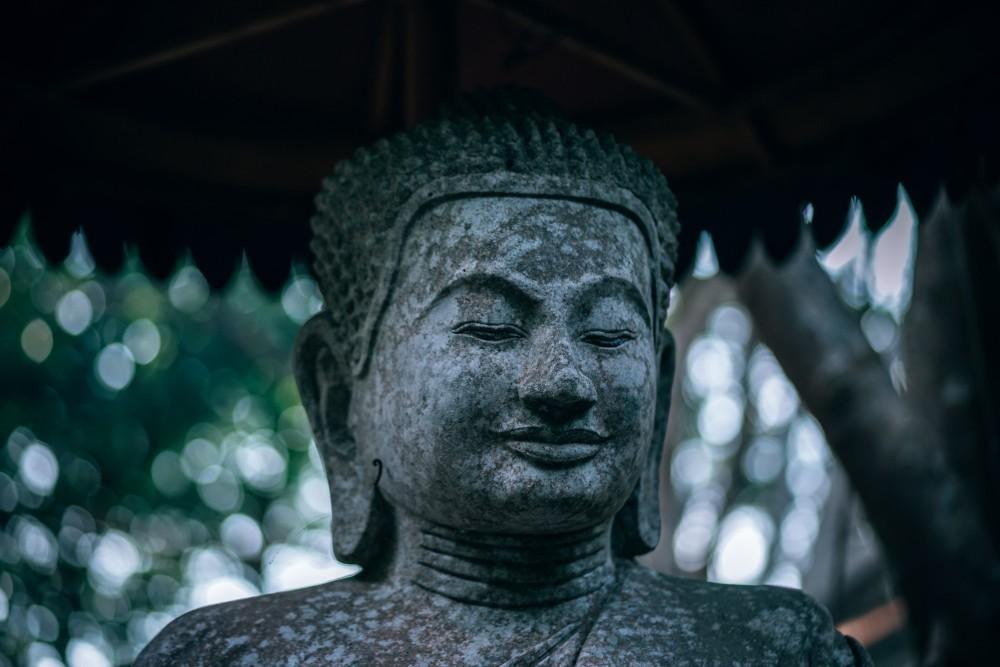 Old-Stone-Buddha-Statue-in-Kep-Cambodia