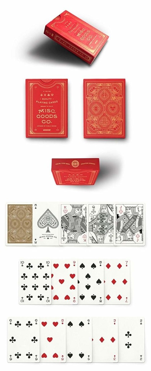 Red Misc Playing Cards Deck Printed By Uspcc