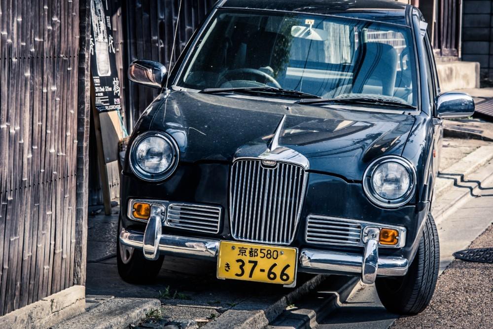 Classic Black Automobile
