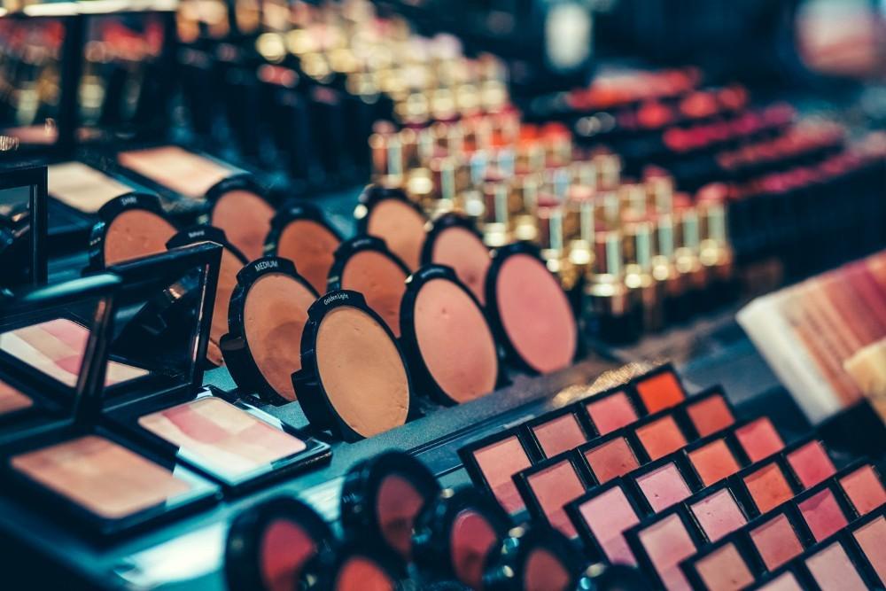 Close-up-Shot-of-a-Make-up-Display
