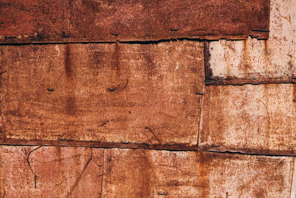 Close-up-Shot-of-a-Rusty-Wall