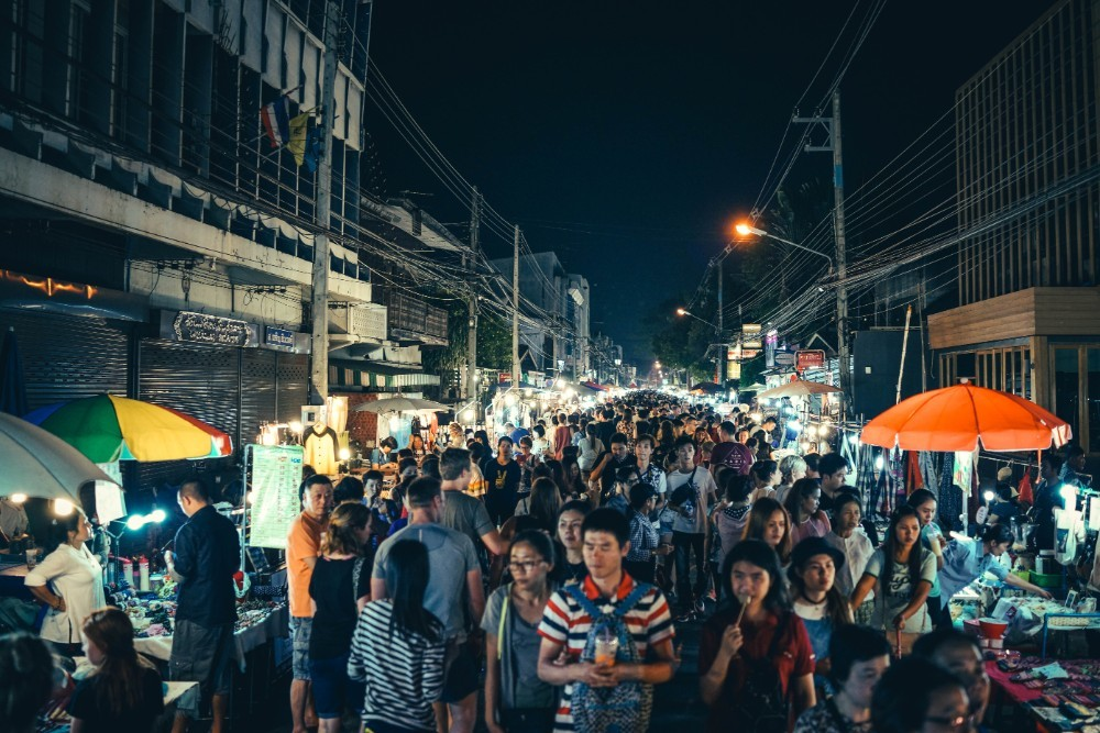 Market Rush in Chiang Mai during the Night Market