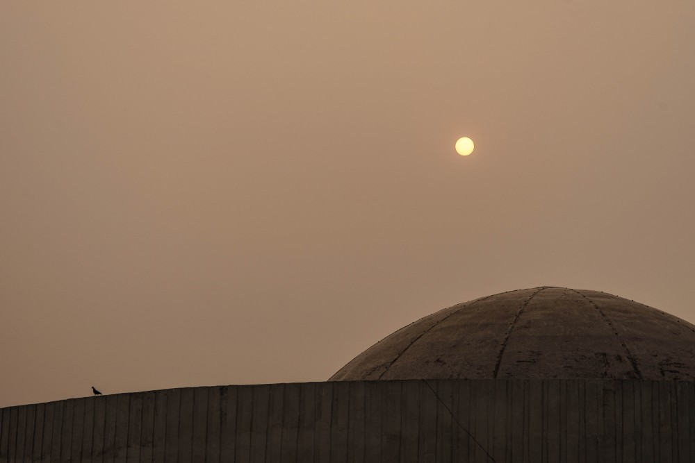 Top of a Mosque under the Hazy Sun