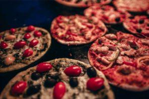 Close up Shot of Mini Pizzas
