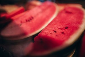 Close up shot of Fresh Watermelon Slices