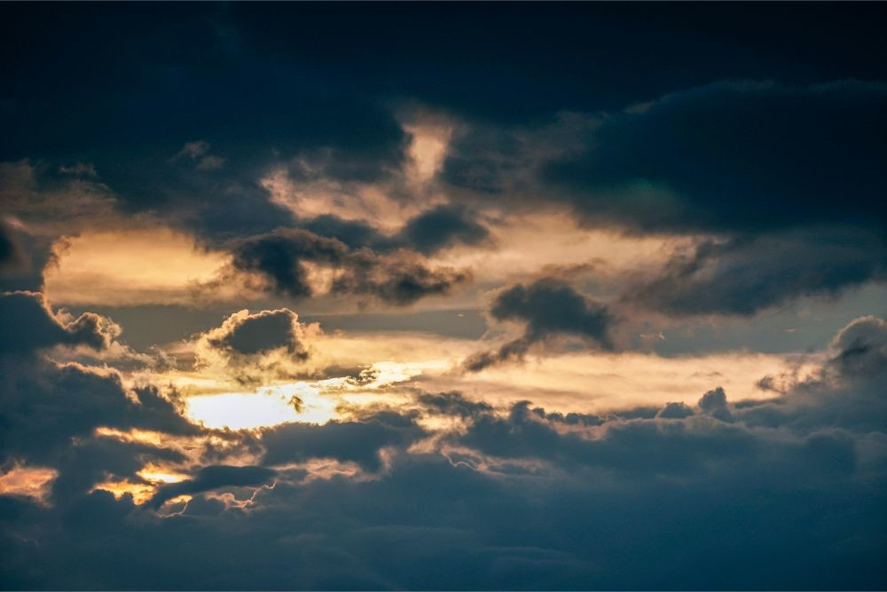Dense-Clouds-Covering-the-Sunset