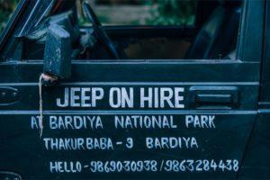 Jeep on Hire at the Bardiya National Park