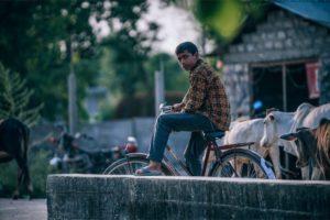 Nepali Teenager on a Vintage Bike