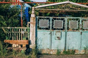 Old Rusty Gate at a House in Dzhankoy