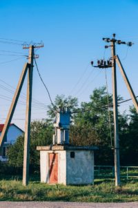 Power Transformer between Two Electricity Polls