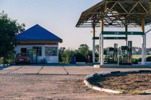 Small Gas Station in Dzhankoy Crimea