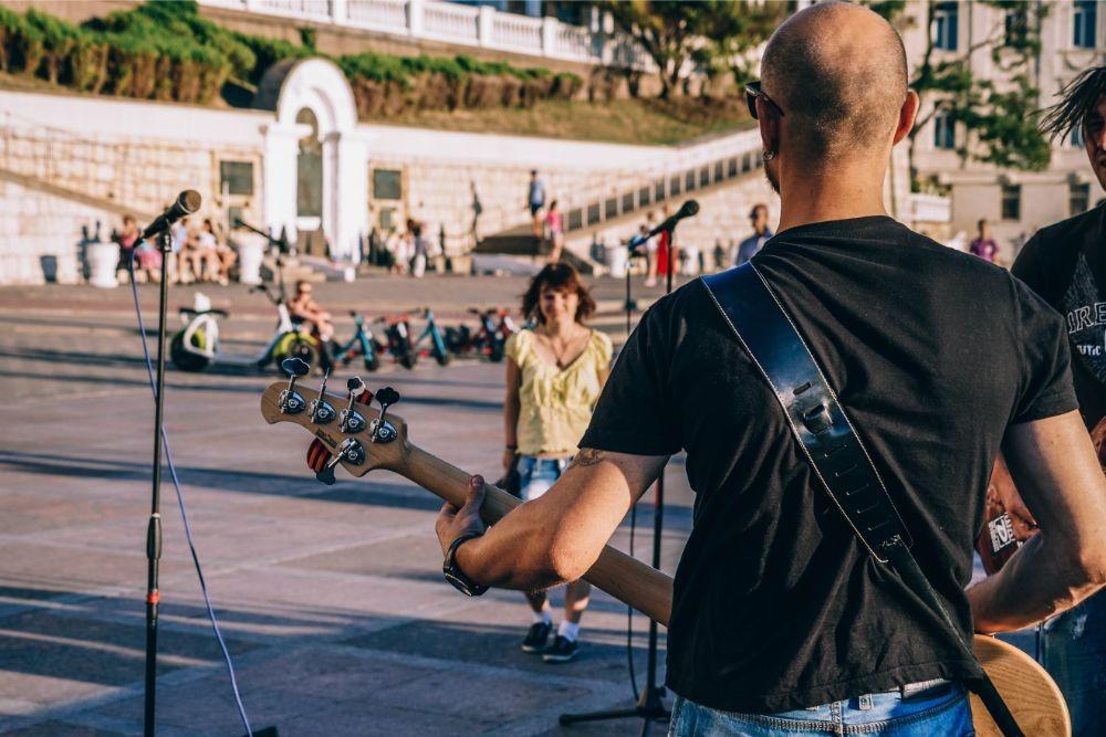 Street Musician Performing at the Sevastopol Square