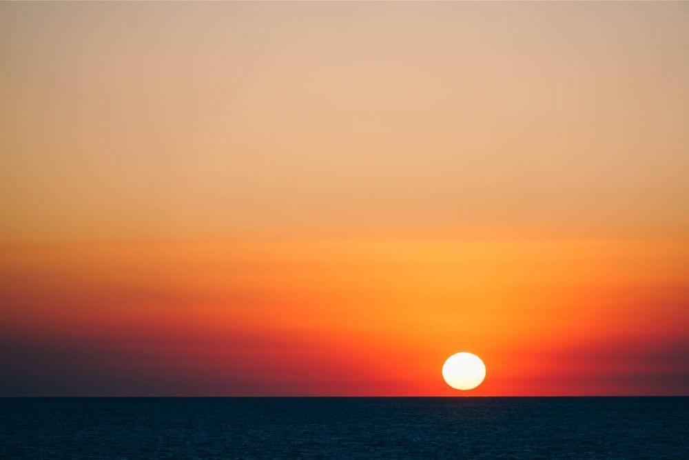 Sun Setting Down over Sevastopol