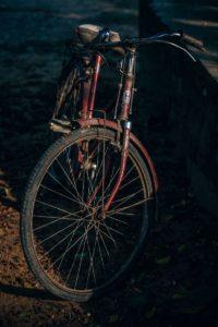 Vintage Bike Photographed in Low Light