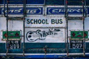 White School Bus Board
