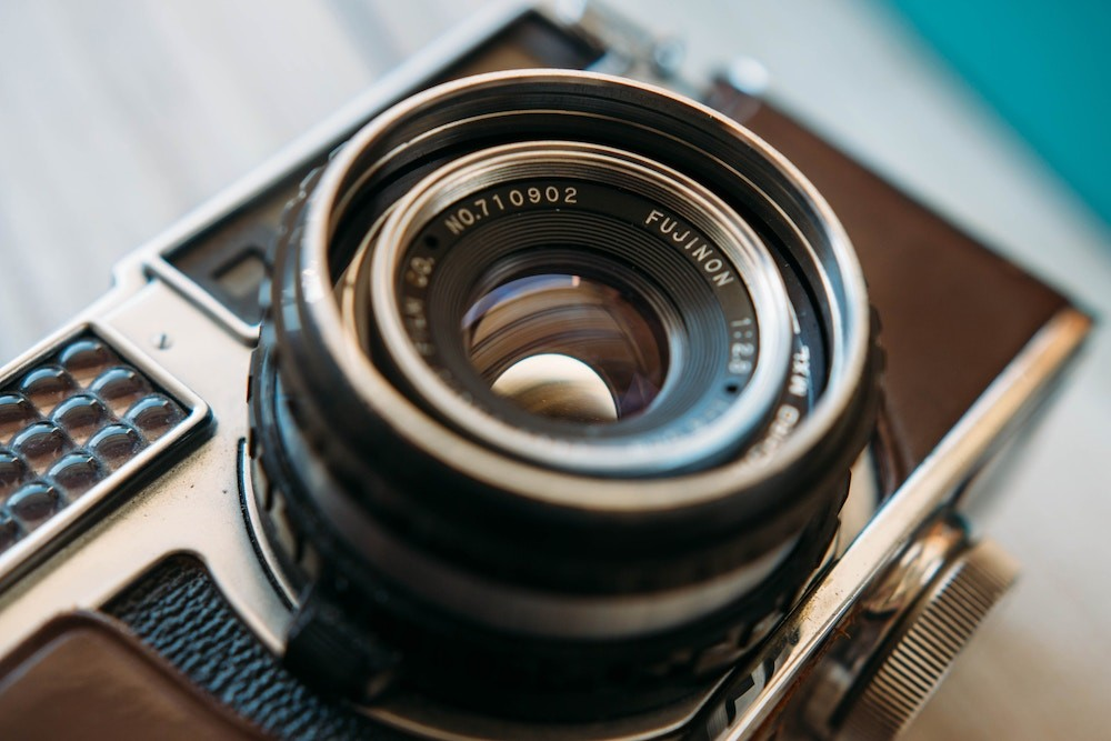 close-up-photography-of-an-old-film-camera