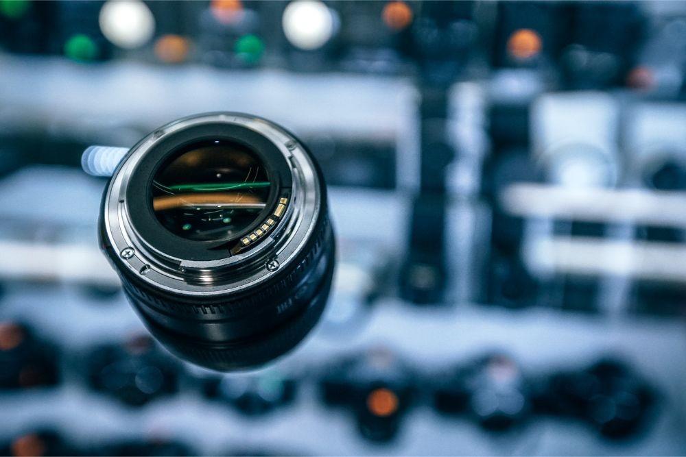 mm Lens Displayed for Sale