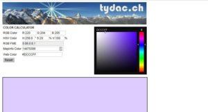 Color Calculator color tool