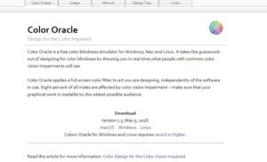 Color Oracle color tool