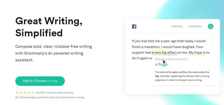 Grammarly grammar tools