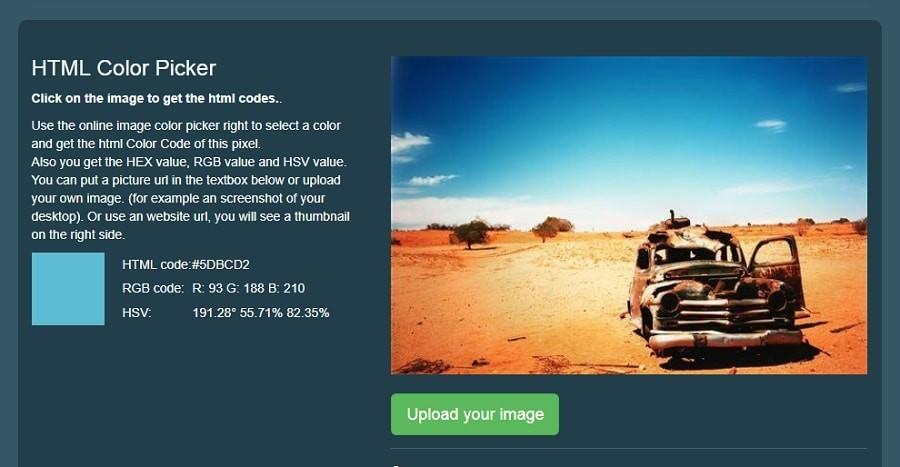 HTML Color Picker color tool