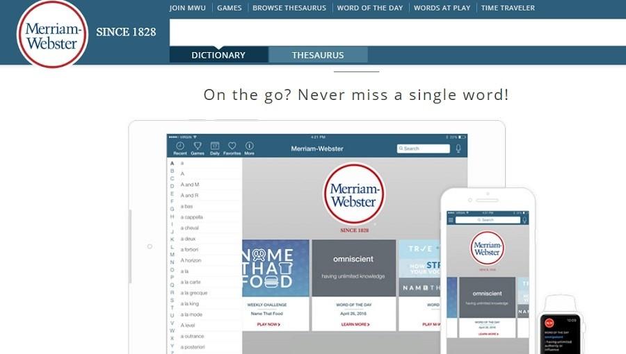 Merriam Webster grammar tools