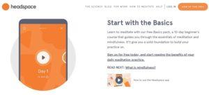 New Headspace meditation app