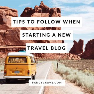 Tips To Follow When Starting a New Travel Blog