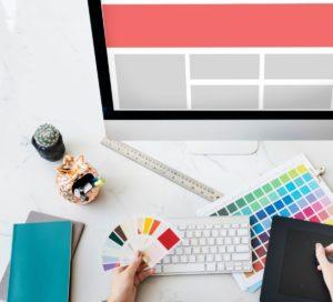 web design template copy space concept PVQEKZ