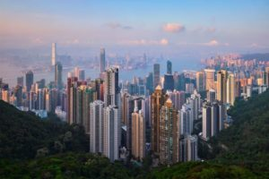 hong kong skyscrapers skyline cityscape view AYHB