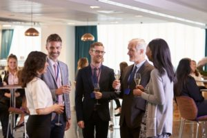 delegates networking at conference drinks PLCKMY