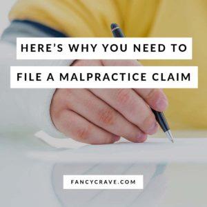 File a Malpractice Claim