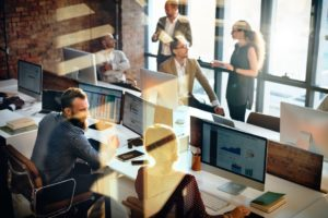 business marketing team discussion corporate UPRZ