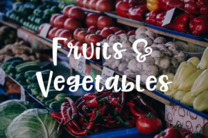 pictures of fruits and vegetables