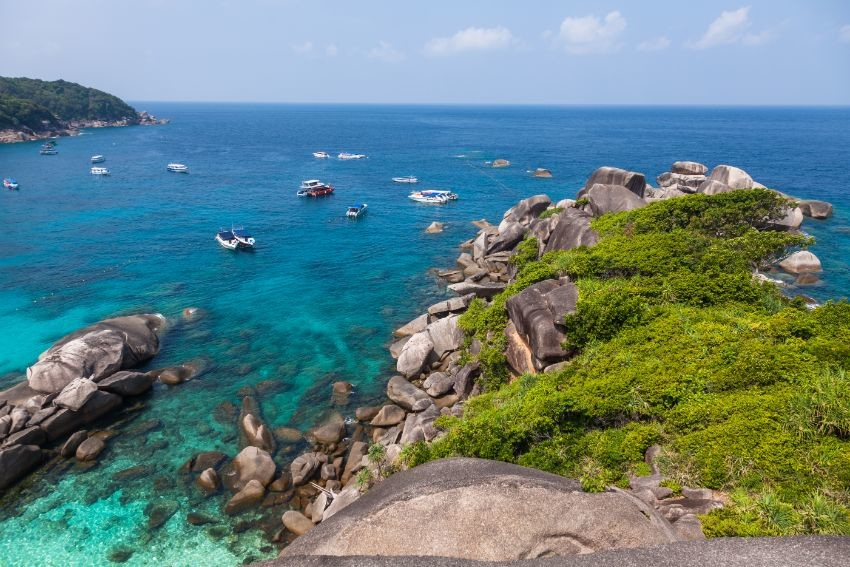 similan island beach near phuket in thailand QHBKM