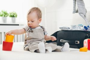 travelling with kids cute toddler packing clothes PUHREJD