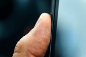 unlocking smart phone with fingerprint sensor PDQB