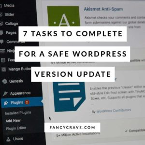 Safely Update WordPress