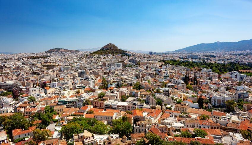cityscape of athens MVFZYU