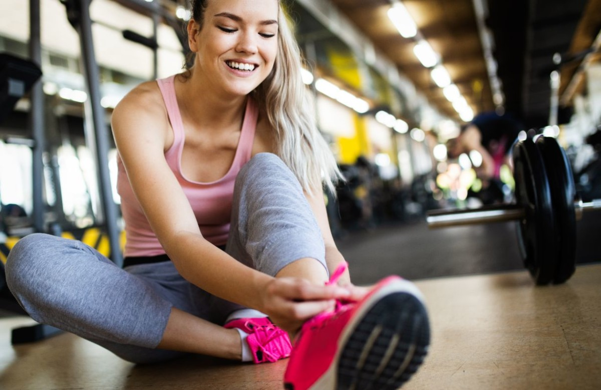 fit sportswoman exercising and training at BVQMF